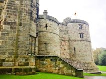 UK, 15 OCT, 2017; SKIPTON CASTLE, NORTH YORKSHIRE, UK, 15 OCT, 2017. Skipton Castle is a medieval castle in Skipton, North Yorkshire, England. It was built in royalty free stock image