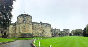 UK, 15 OCT, 2017; SKIPTON CASTLE, NORTH YORKSHIRE, UK, 15 OCT, 2017 royalty free stock photography