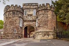 Skipton-Schloss, Yorkshire, Vereinigtes Königreich stockfotografie