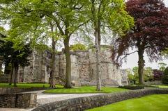 Skipton slott, Yorkshire, Förenade kungariket royaltyfria foton