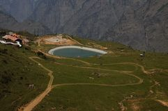 Skipunkt bei Auli, Indien Stockfoto