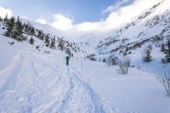 Skireis in Tatra-Bergen Royalty-vrije Stock Fotografie