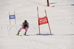 Skirennen Stockbild