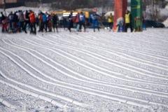 Skirennstaffelsprintausflug-Steigungstor stockbilder