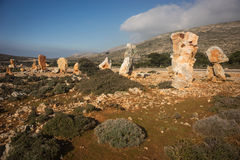 Skiros, Nothern Sporades, Greece. Scenic image of stones at the island of Sciros, Greece Royalty Free Stock Photo