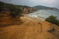 Skiros, Nothern Sporades, Greece. Scenic seascape at skiros, Nothern Sporades, Greece Stock Photos