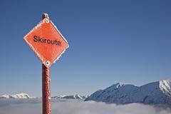 skiroute Στοκ φωτογραφία με δικαίωμα ελεύθερης χρήσης