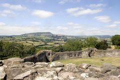 The Skirrid from White Castle Royalty Free Stock Photography