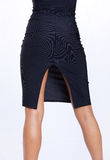 Skirt. Lower half of a woman wearing a pinstripe skirt Stock Images