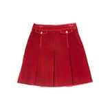 Skirt. Red skirt on white background Royalty Free Stock Photo