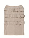 A skirt with belts Royalty Free Stock Image