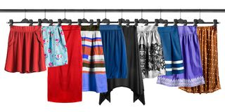 Skirt on clothes racks Royalty Free Stock Photo
