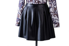 Skirt with folds and shirt. Royalty Free Stock Image