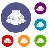 Skirt icons set Royalty Free Stock Images