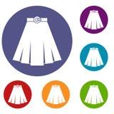 Skirt icons set Stock Photography