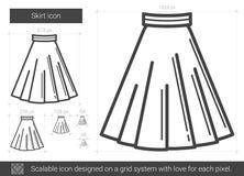 Skirt line icon. Stock Photos