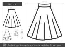 Skirt line icon. Stock Photography