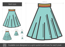 Skirt line icon. Royalty Free Stock Photography