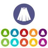Skirt set icons Royalty Free Stock Photography