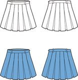 Skirt. Vector illustration of women's pleated skirt. Front and back views Royalty Free Stock Photography