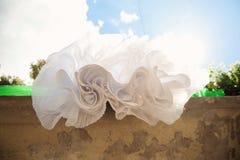 Skirt of Wedding Dress Stock Images