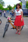 Skirtbike 2016 in Bucharest, Romania. The 7th edition Skirtbike. The event promotes both women empowerment, thus activating the Women's Rights in a modern Royalty Free Stock Photo