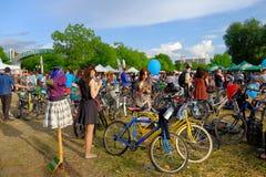 Skirtbike 2016 in Bukarest, Rumänien Lizenzfreie Stockfotografie
