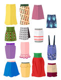 Skirts with abstract print Royalty Free Stock Photography
