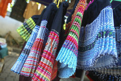 Skirts attire tribal northern in Thailand. Handicraft skirts colorful costume tribal northern in Thailand stock images