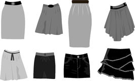 Skirts-icon vector Royalty Free Stock Photo