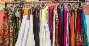 Skirts on sale Royalty Free Stock Image