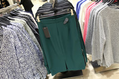 Skirts in store Stock Photos