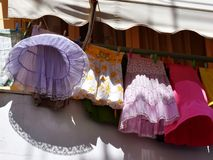 Skirts on string Stock Photo