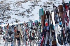 Skis royalty-vrije stock foto's