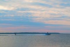 Skis d'eau Photographie stock libre de droits