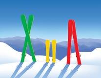 Skis im Schnee vektor abbildung