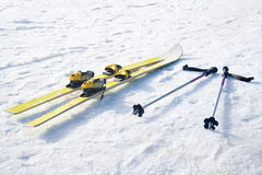 Skis op sneeuw Royalty-vrije Stock Foto