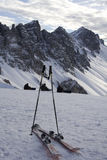 Skis and poles royalty free stock image