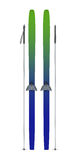 Skis and sticks front view Stock Photography