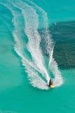 Skis tropicaux d'avion à réaction Images stock