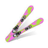 Skis. Vector illustration - pink girly skis Stock Photography