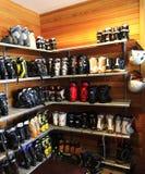 Skischuhe lizenzfreie stockfotografie