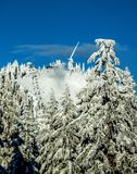 Skiseizoen op Hoenberg Stock Afbeeldingen