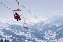 Skisesselbahn Lizenzfreie Stockfotografie