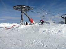 Skisessellift Frankreich Lizenzfreie Stockbilder