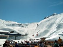 Skislope in Kaprun. Taken from one of the resting areas in Kaprun, Austria Stock Photography