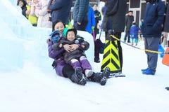 Skispeelplaats Stock Foto's