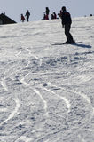 Skisporen Stock Foto's