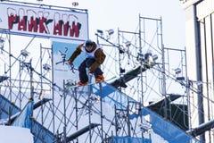 Skispringen des Schnee-Festivals Stockfotografie
