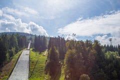 Skisprung Harrachov stockbilder